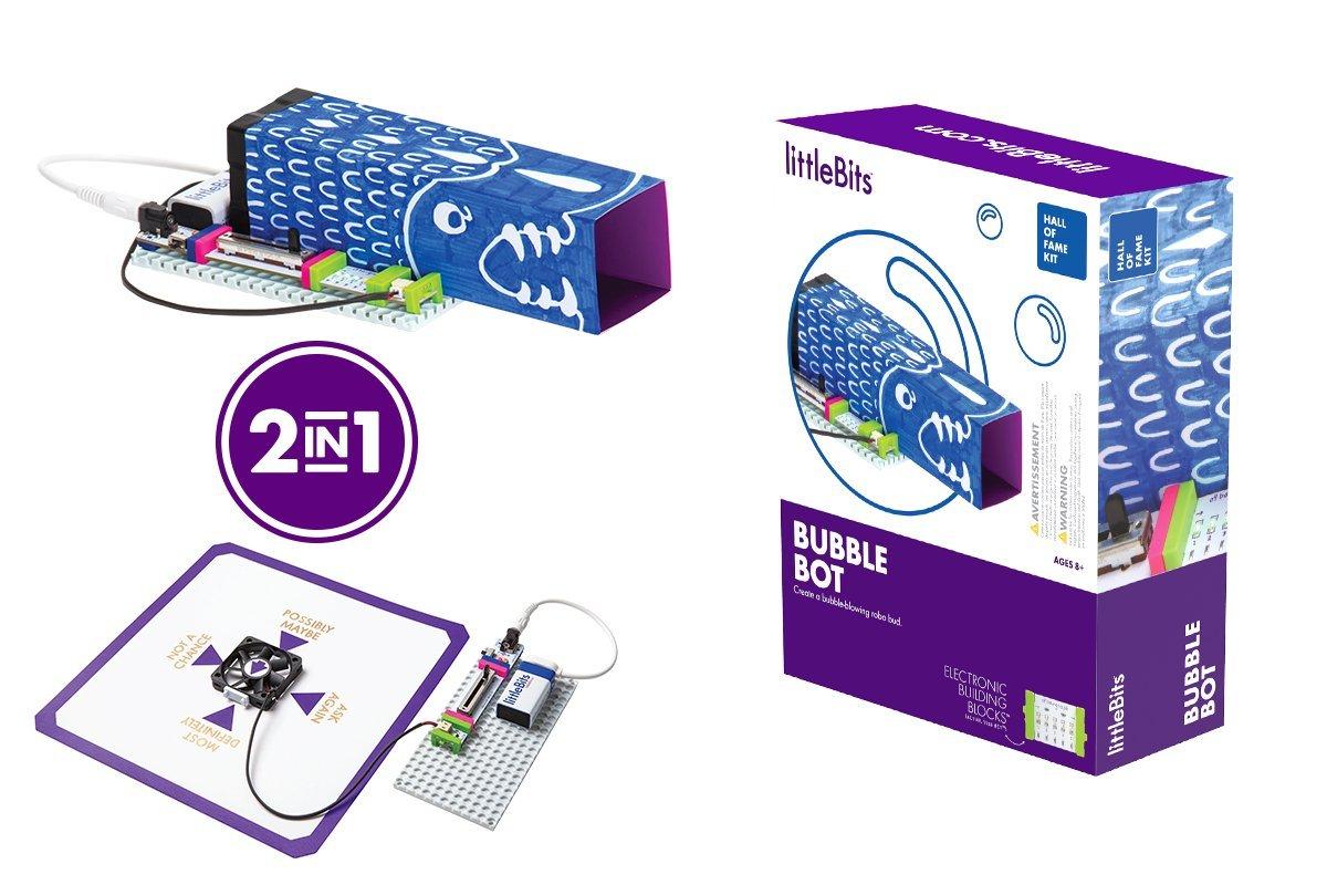 amazon com littlebits hall of fame bubble bot starter kit purple rh amazon com