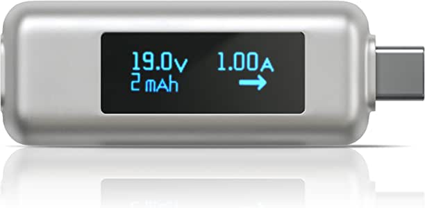 Satechi USB-C Power Meter Tester Multimeter - Compatible with 2020/2019 MacBook Pro, 2020/2018 MacBook Air, 2020/2018 iPad Pro