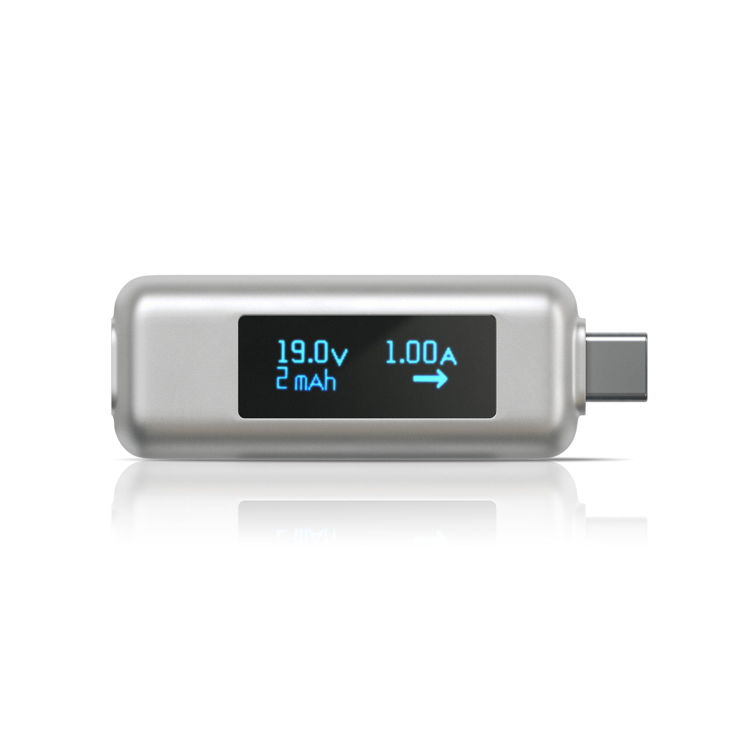 Satechi USB-C Power Meter Tester Multimeter for 2016/2017/2018 MacBook Pro, 2015/2016/2017 MacBook, iMac Pro, 2017 iMac, Lenovo Yoga, Dell XPS, HP Specte x360, Samsung S9 Plus, S9, S8 and more