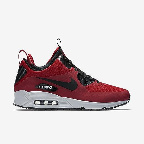 half off 67752 17c06 Nike 806808-600 Men AIR Max 90 MID Winter Gym RED Wolf Grey