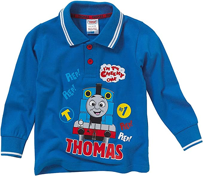 Thomas & Friends - Polo - para niño Azul Azul Real: Amazon.es ...
