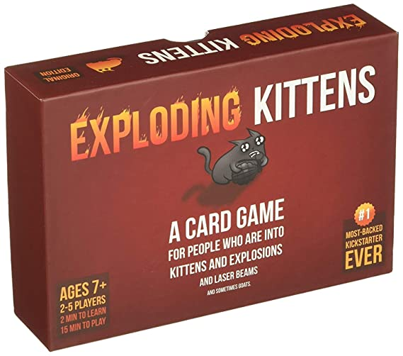 Exploding Kitten Card Game, Board Games,Family Games,Card Games,Friend Games,Party Games,Exploding Kittens Expansion Suitable for Kids 8-12,Families so on