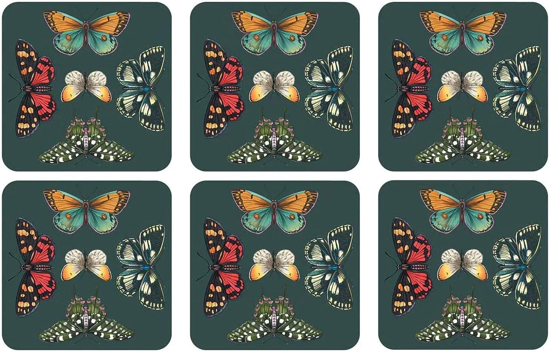 Pimpernel Set of 6 Coasters - Butterflies