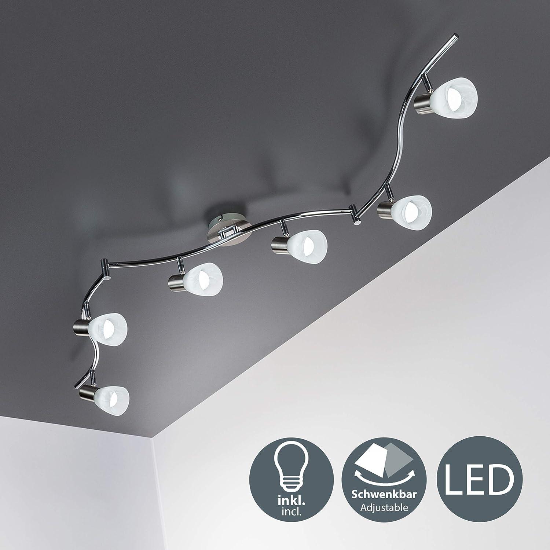 LED 25,2W Decken Strahler DESIGN 6-er Spot beweglich Wohnzimmer Lampe Flur Licht