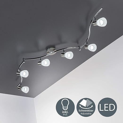 Lámpara de techo LED con focos giratorios incl. 6 x 5W LED ...