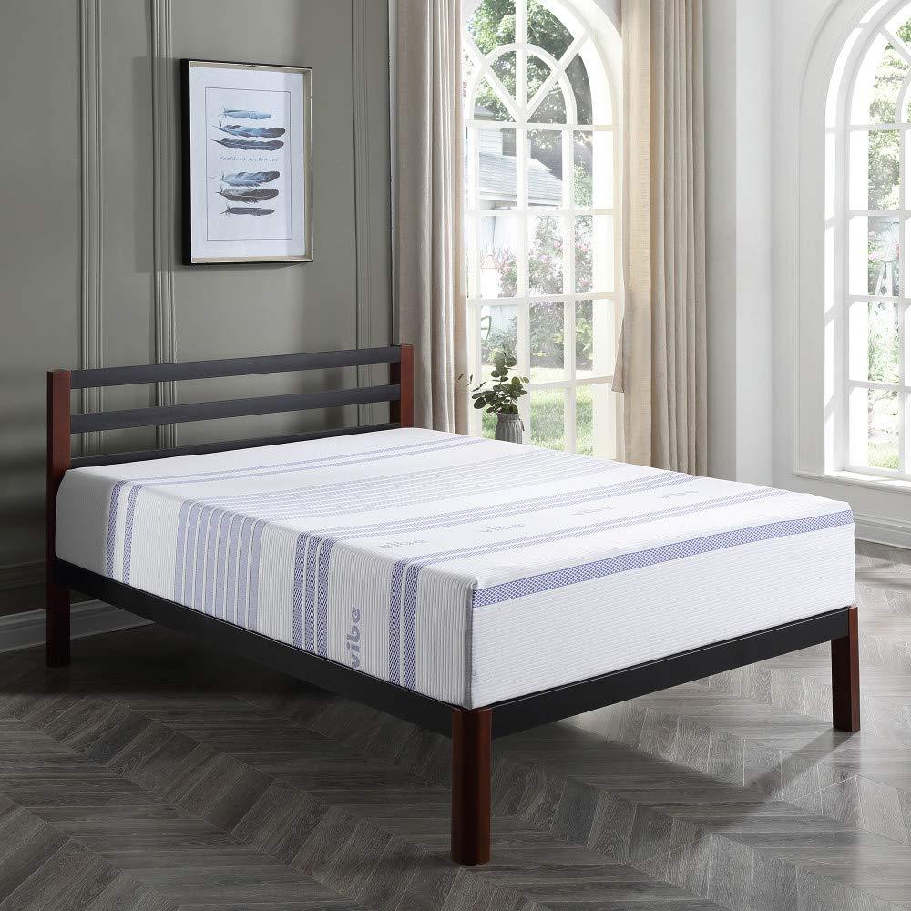 Classic Brands Vibe 12-Inch Gel Memory Foam Mattress | Bed in a Box, [Mattress Only], Queen