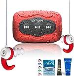 Swimbuds Color Waterproof Headphones and 8 GB SYRYN Waterproof MP3 Player