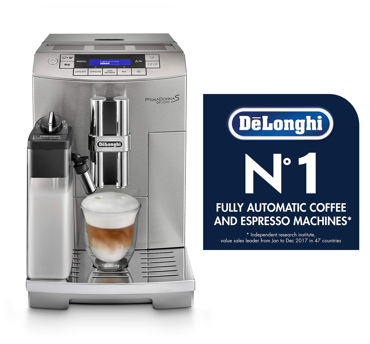 48db919f4397 DeLonghi ECAM28465M PrimaDonna S Fully Automatic Espresso and Cappuccino  Machine with One Touch LatteCrema System, Stainless Steel: Amazon.ca: Home  & ...