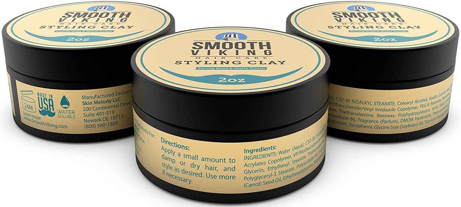 Hair Styling Clay For Men   Best Pliable Molding Cream With Strong Hold U0026  Matte Finish   Product For Textured, Thickened U0026 Modern Hairstyles   Shine  Free ...