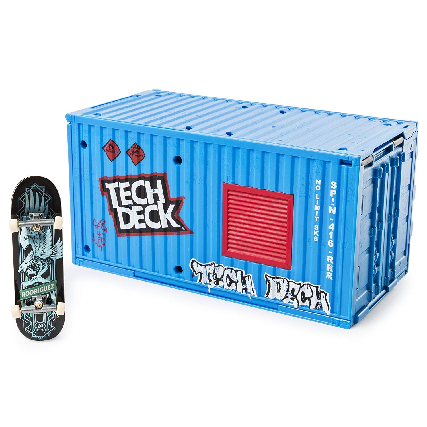 Tech Deck - Transforming SK8 Container with Ramp Set and Skateboard by Tech Deck