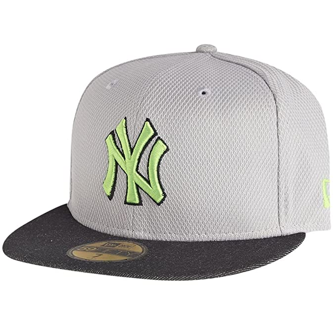 NEW YORK Yankees New Era - Gorra - Diamond Denim - Grey/Grey Denim/, color verde: Amazon.es: Ropa y accesorios