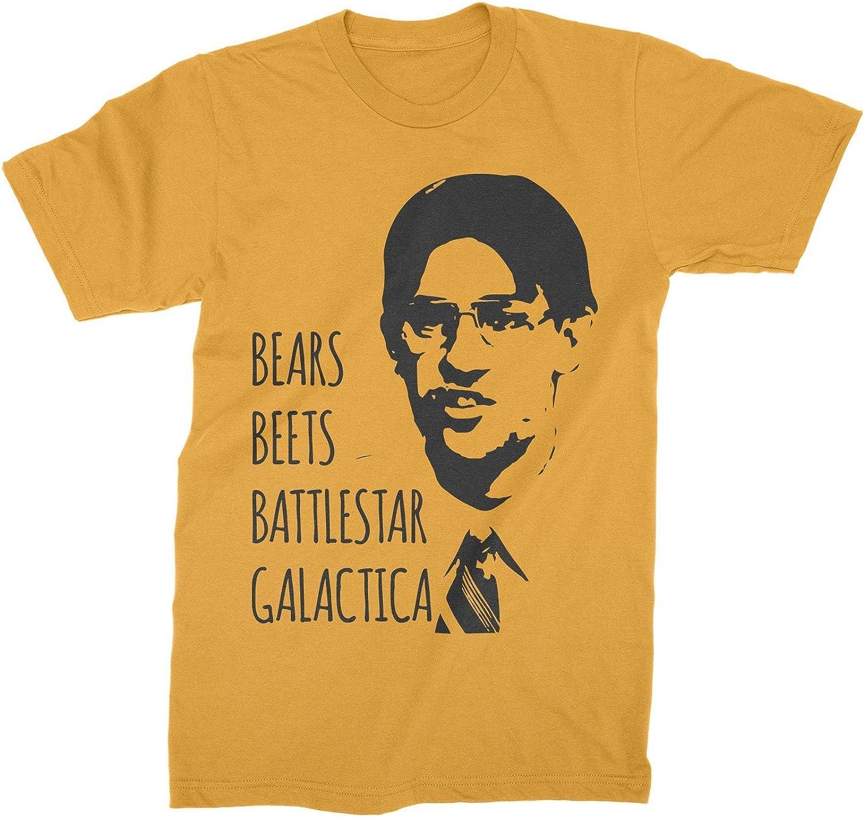 Office TV Series Bears Beets Battlestar Galactica Dwight Schrute Men/'s T-Shirt