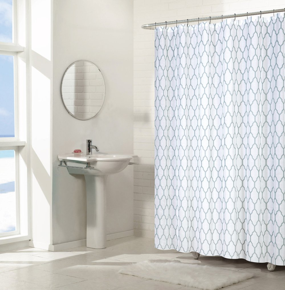 Amazon Regal Home Collections Aria Trellis Chic Fabric Shower Curtains