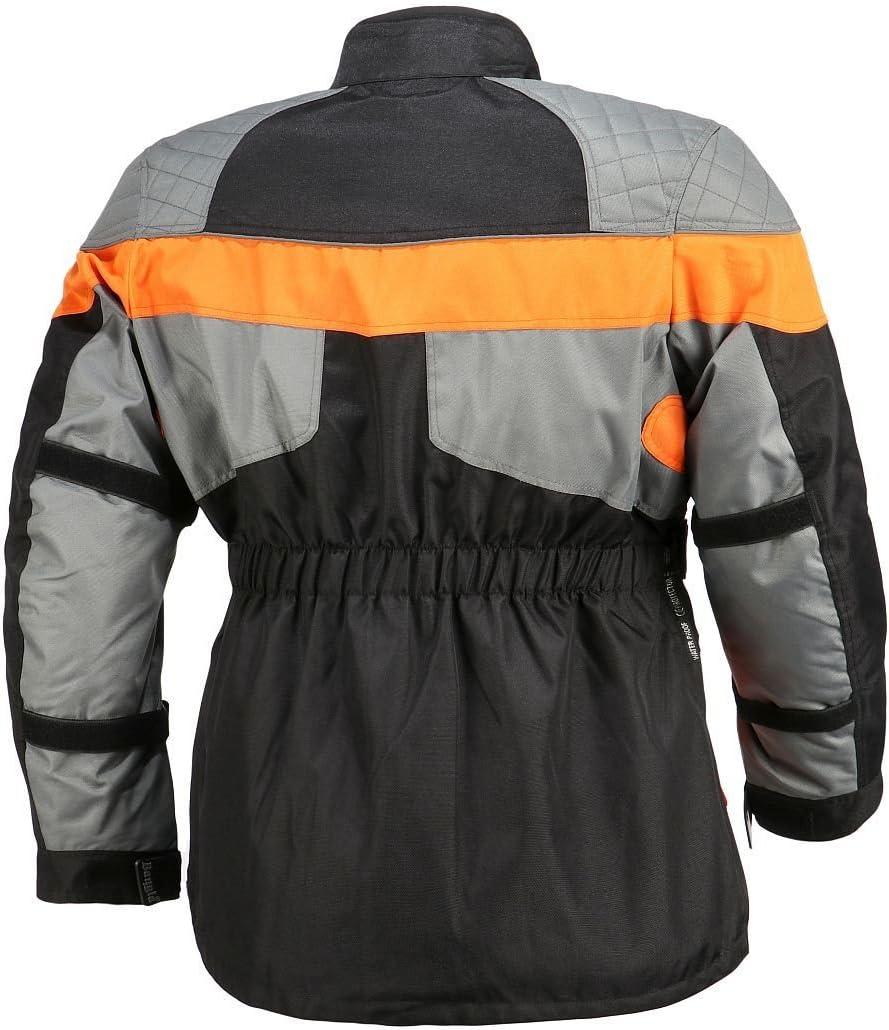 Bangla Kinder Motorradjacke Tourenjacke Textil 1907 Orange Grau 128