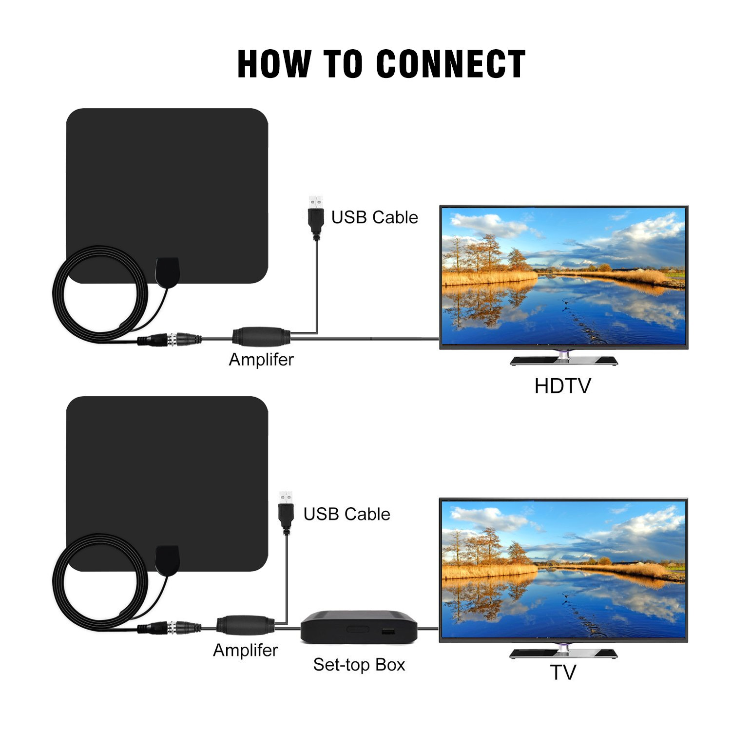 Amazon.com: 50 Mile TV Antenna, Long Range Indoor Amplified HD Digital TV Antenna with Detachable Amplifier Signal Booster Upgraded Version 13.5ft High ...