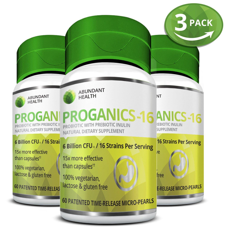 Abundant Health Probiotics Dietary Supplement - 60 Time Release Micro Pearls - 3 Bottle