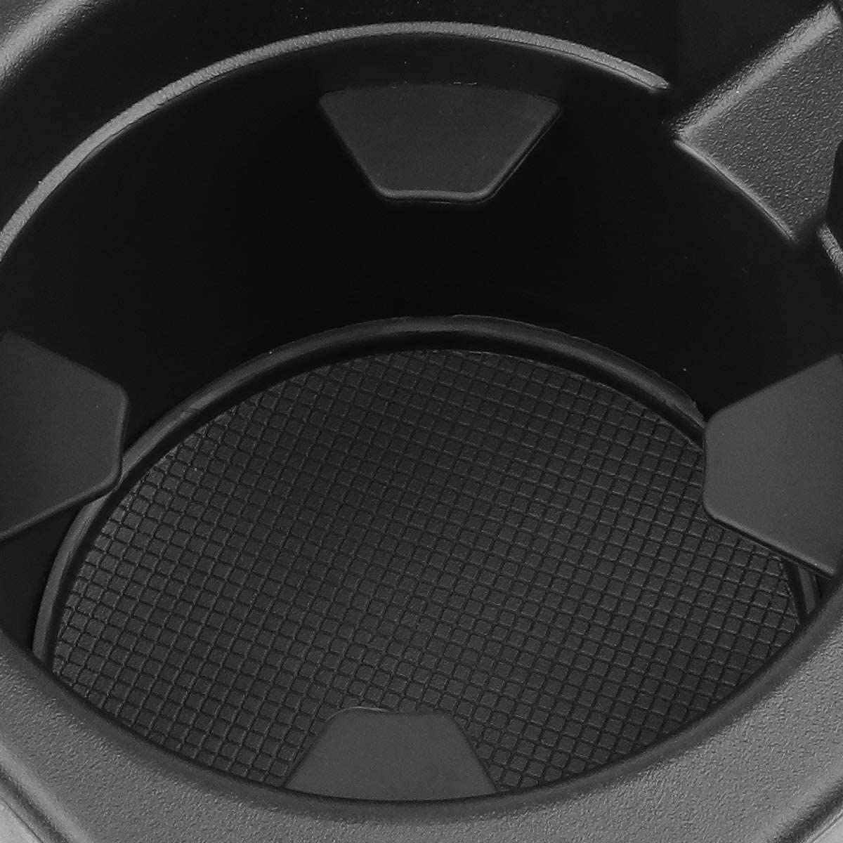 DNA Motoring ZTL-Y-0049 Front Center Floor Console Cup Holder Inserts Replacement,Black
