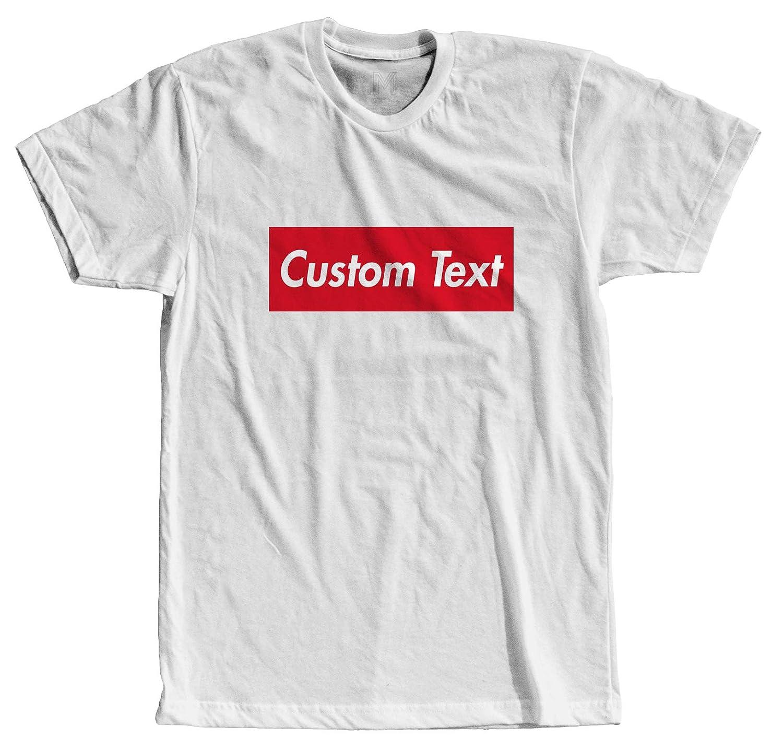 5b6719f8c Amazon.com: Custom Text Supreme Style - Cool Modern T-Shirt - Tees Vinyl:  Clothing