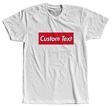 6b09a9ec5bd7 Amazon.com: Custom Text Supreme Style - Cool Modern T-Shirt - Tees ...
