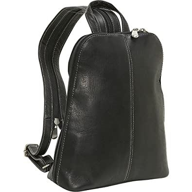 0e5792b41 Amazon.com: Le Donne Leather U-Zip Women's Sling/Back Pack (Black ...