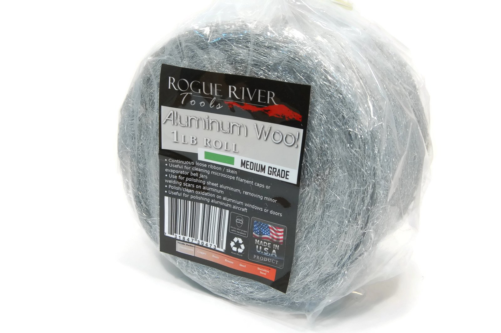 Rogue River Tools Aluminum Wool 1lb Roll - Medium