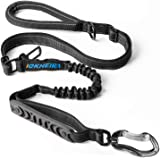 IOKHEIRA Dog Leash, 4-in-1 Multifunctional Dog Leashes for Medium & Large Dogs with Car Seat Belt, 6 FT Strong Shock Absorbing Bungee Dog Leash with Padded Handles and Highly Reflective Threads