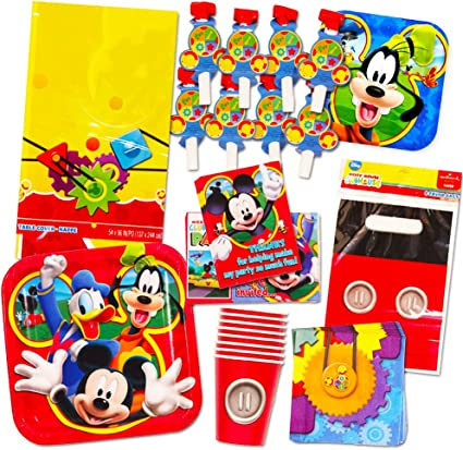 Amazon.com: Set de Mickey Mouse de suministros para fiestas ...