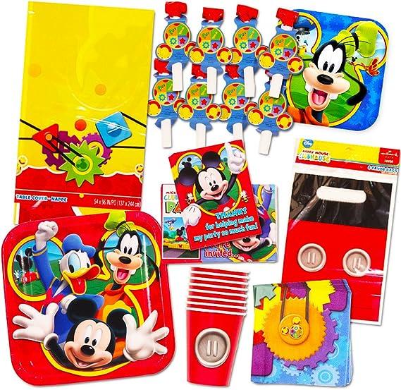 Amazon.com: Set de Mickey Mouse de suministros para fiestas ...