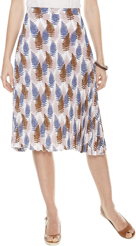Chums Ladies Womens Skirt Permanent Pleat Blue US 14 UK 18