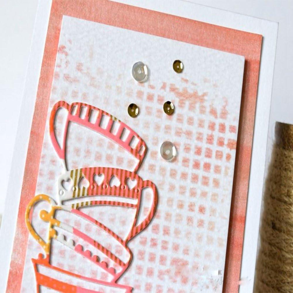 Jiacheng29 empilage Tasses Papier Art Decor DIY Scrapbooking gaufrage de Coupe Dies Pochoirs