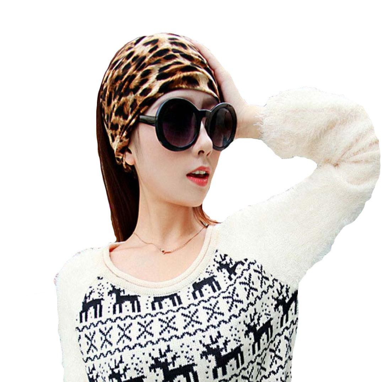 Transer accesorio para el pelo completo Vintage Amplia Cinta, cinta elástica banda de pelo de leopar...
