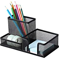 Deli Mesh Desk Organizer Office Supplies Caddy with Pencil Holder and Storage Baskets for Desk Accessories, 3…