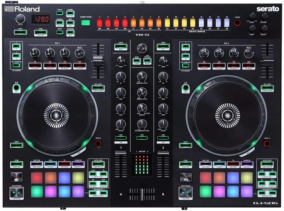 롤랜드 DJ 컨트롤러 2 채널 4 데크(DJ-505)