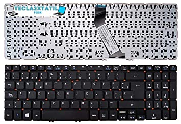 tecla2xtatil Teclado Compatible DE Y ESPAÑOL SIN Marco PORTATIL Acer Aspire V5-571 V5-571G V5-571P V5-571PG Negro: Amazon.es: Electrónica