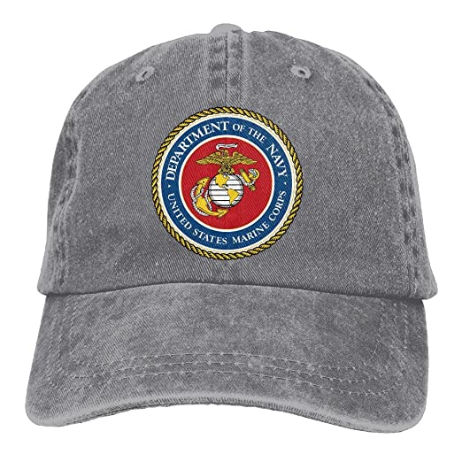 Marine Corps Trend Printing Cowboy Hat Fashion Baseball Cap For Men and  Women Ash 51282f76a79