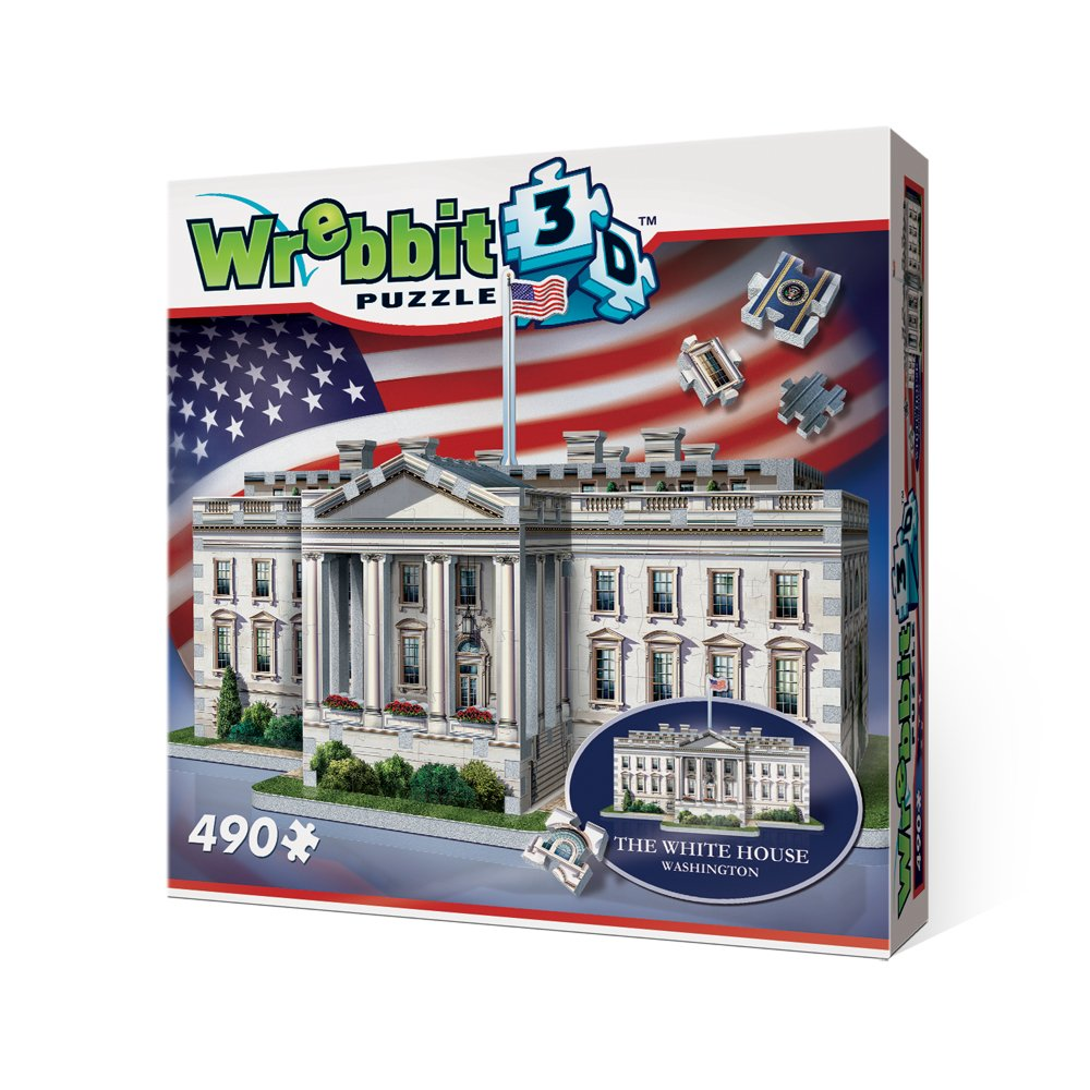 WREBBIT 3D The White House - 3D Jigsaw Puzzle (490 pieces) WREBBIT PUZZLES W3D-1007