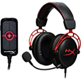 HyperX Cloud Alpha Gaming Headset - Dual Chamber Drivers and HyperX Amp USB Sound Card - Virtual 7.1 Surround Sound
