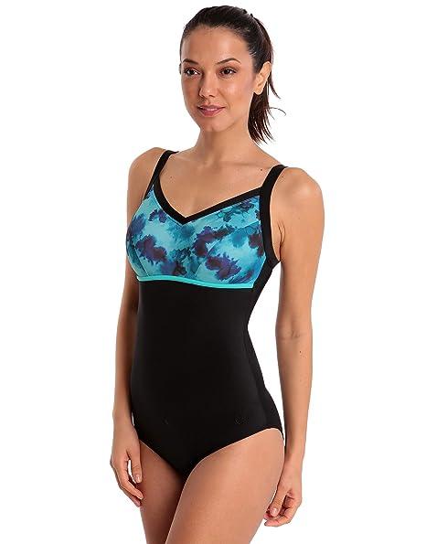 9906a90e7829c Halocline Nancy Longer Length Swimsuit - Watercolour UK Size 8 / Blue