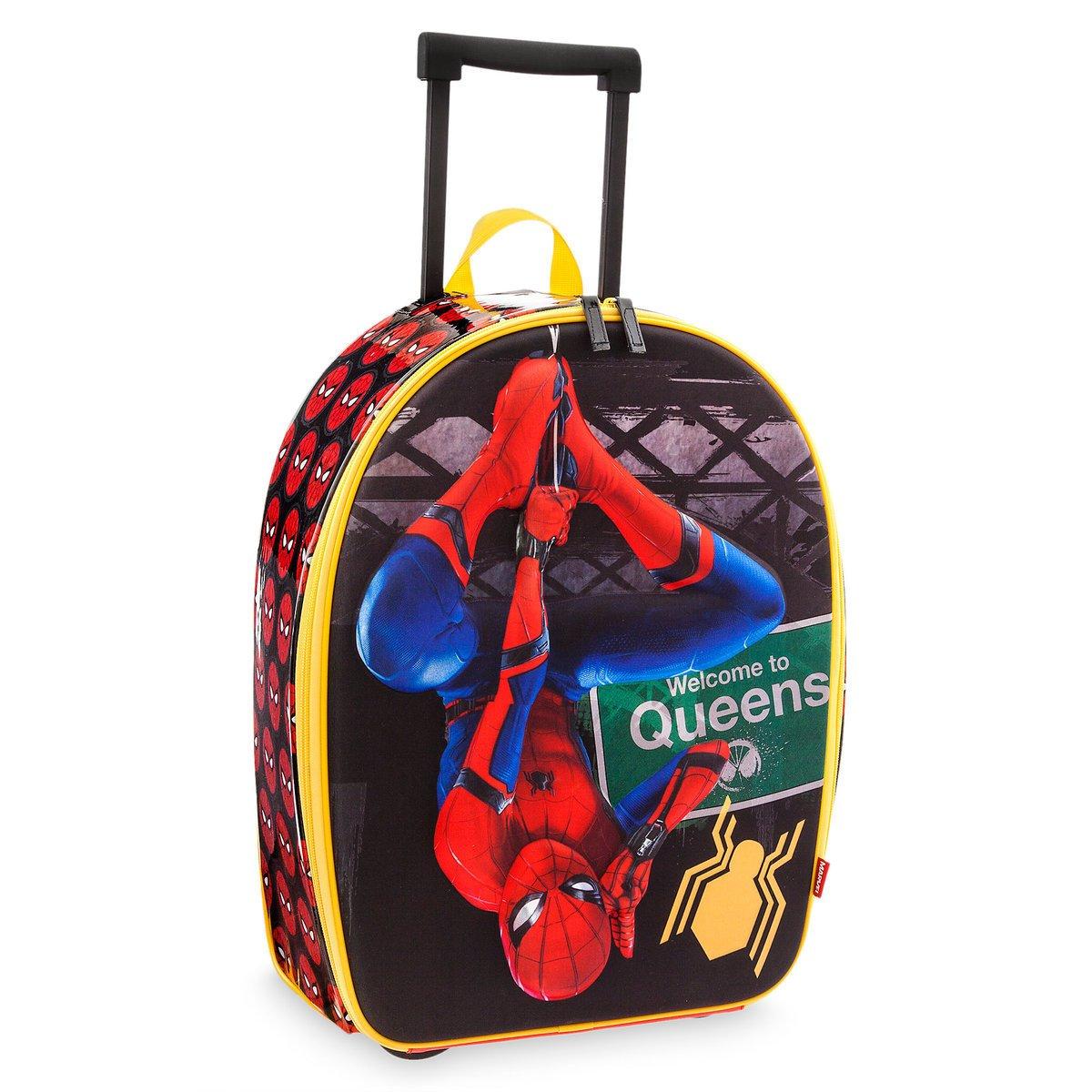 Marvel Disney Store Spider-Man Rolling Luggage Suitcase - Kids Boys
