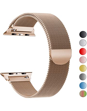 VIKATech Correa de Repuesto Compatible con Apple Watch de 44 mm, 42 mm, 40
