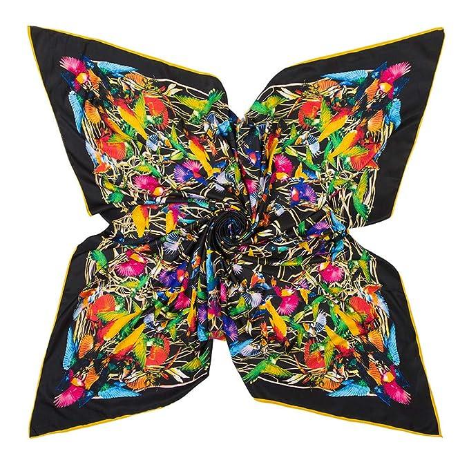 f0418d835 Womens Extra Large Scarf Silk Square Scarf Neckerchief Blanket Scarf Shawl  Wraps 51x51 Inches (B