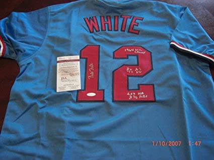 a25730a1 Bill White Stlouis Cardinals 1964 Ws Champs Full Stats Sports ...