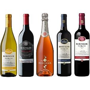 【Amazon.co.jp限定】 銘醸地カリフォルニアから直輸入 品種別飲み比べお買い得ワイン5本セット