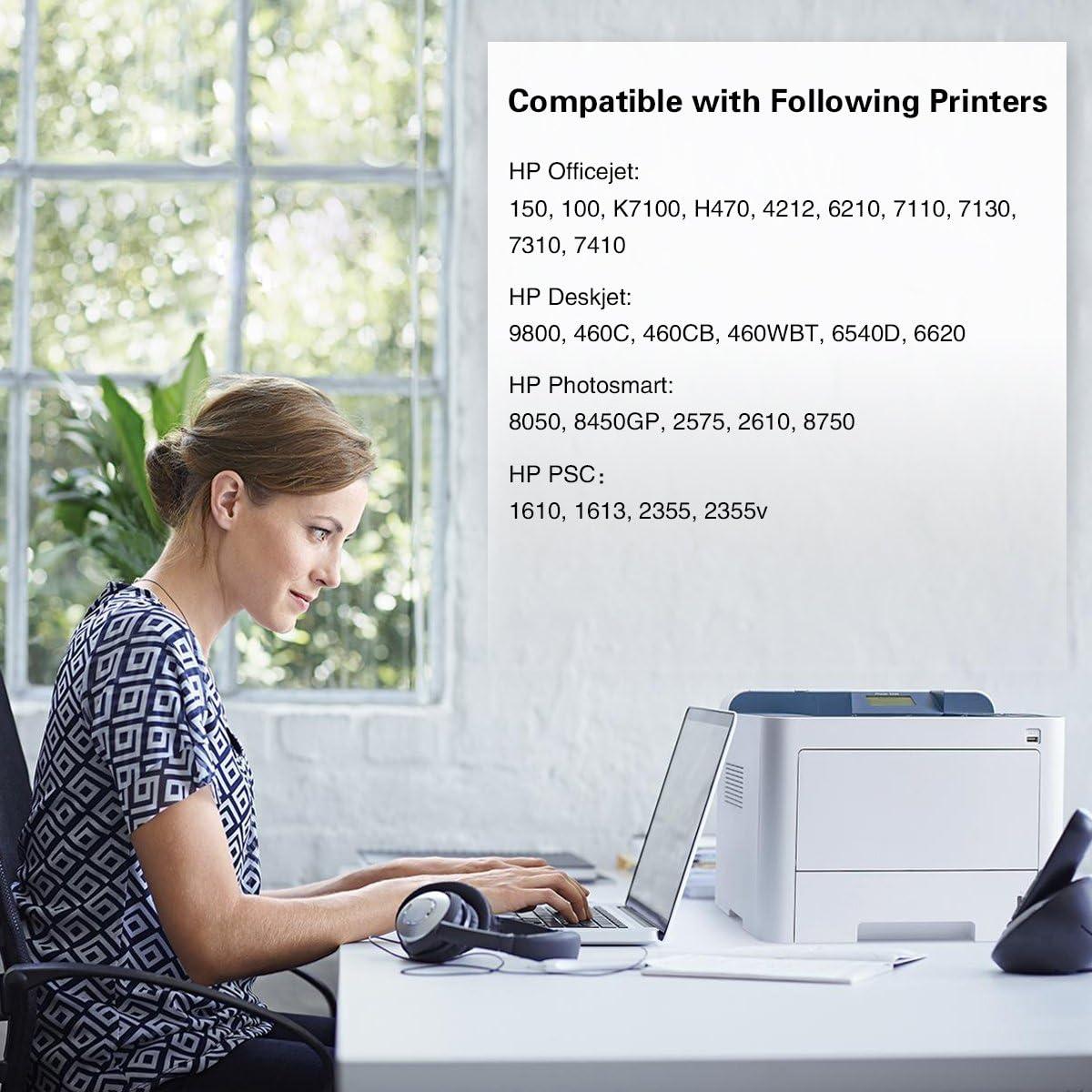 JIMIGO Remanufacturado HP 338 343 Cartuchos de Tinta Compatible ...
