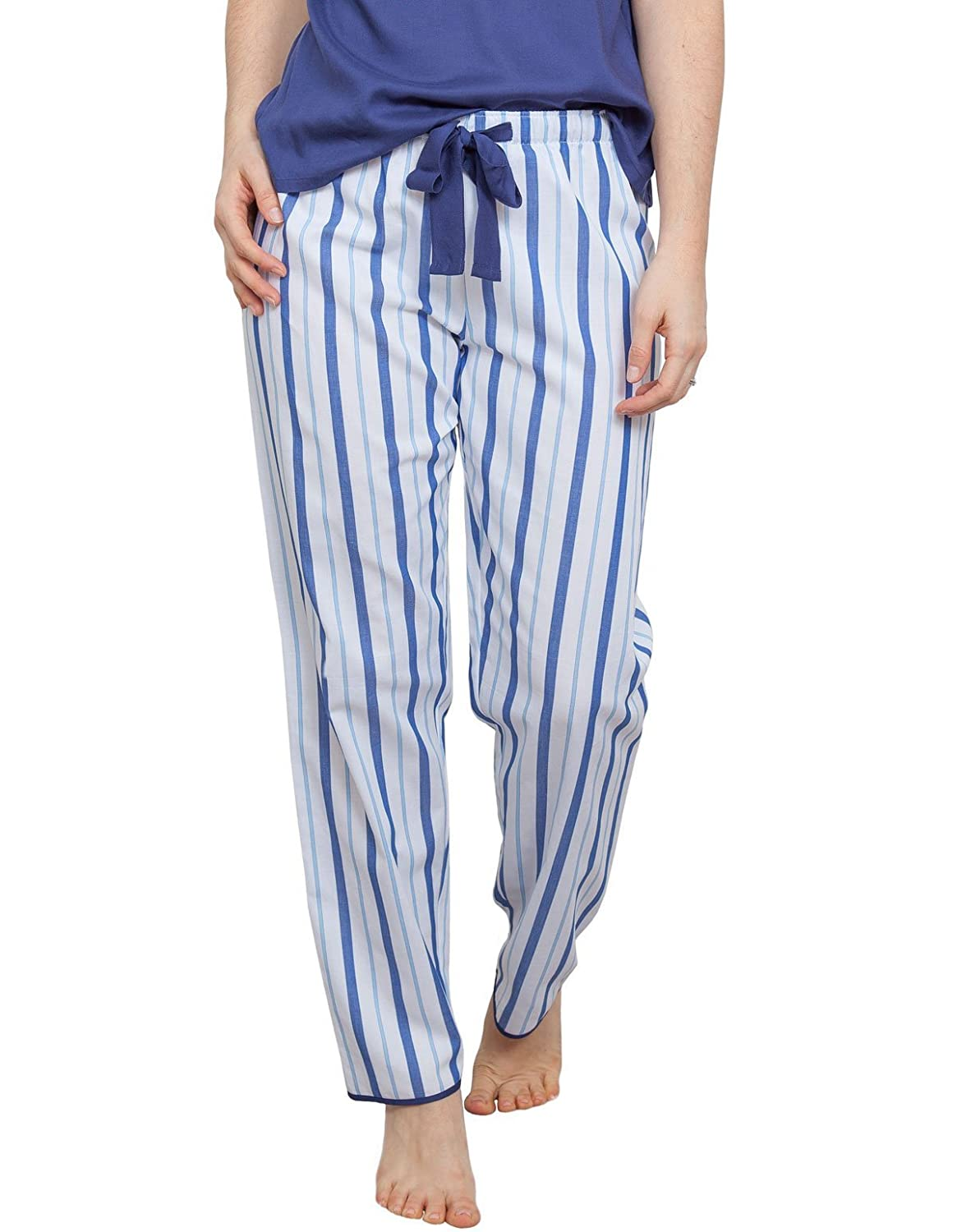 TALLA 34. Cyberjammies 3761 Women's Ophelia Blue Striped Pajama Pyjama Pant