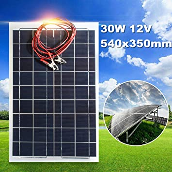 Amazon.com: Becornce 30W 12V Semi Flexible Panel Solar ...