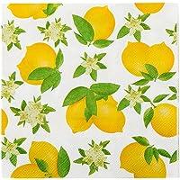 "White Paper Luncheon Napkin - Lemon - 13"" x 13"" - 20 count box - Restaurantware"