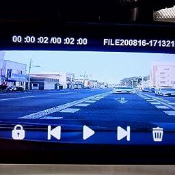 Amazon 日本仕様 業界唯一 音声案内告知機能搭載 ドライブレコーダー ミラー 前後カメラ 12インチ 右側カメラ搭載 高耐久専用sd64gbカード付属 年モデル 前後1080p Sonyセンサーimx307 スーパー暗視 Wdr対応 Gps搭載 地デジtvノイズ対策済 Led信号機無灯対応 170