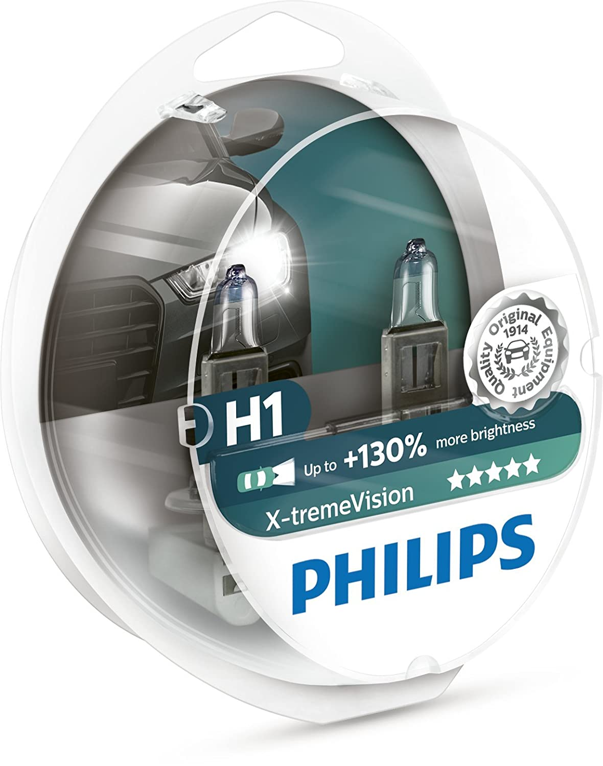 Ampoules De Phare Avant Origine Philips Xtreme Vision +130 H1 (2Pcs) 12258Xv+S2 Philips GmbH BC Automotive