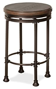 Hillsdale Furniture Hillsdale Casselberry Swivel Counter Stool, Distressed Walnut